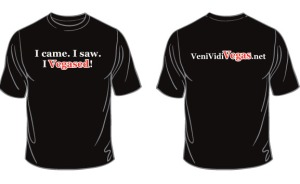 vegas front and back tshirt