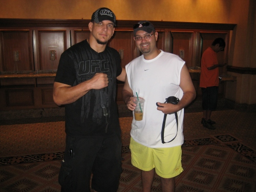 With Frank Mir.